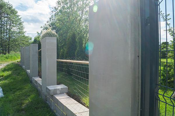 ogrodzenie w budowie